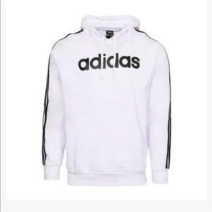 NWT Mens Adidas Logo Lettered Hooded Sweatshirt